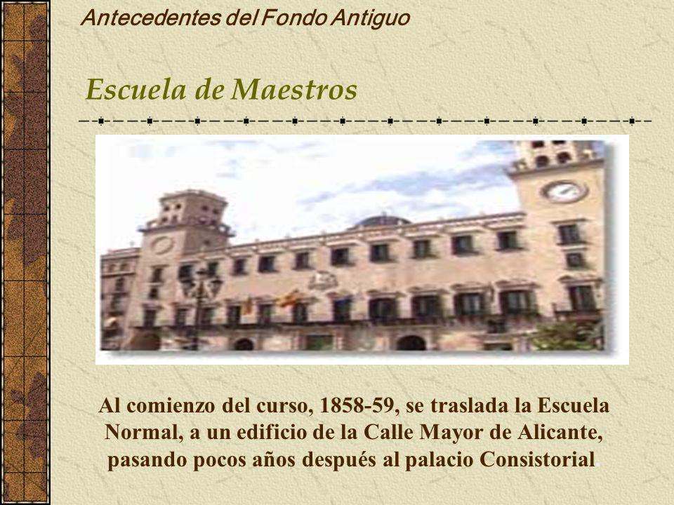 Antecedentes del Fondo Antiguo