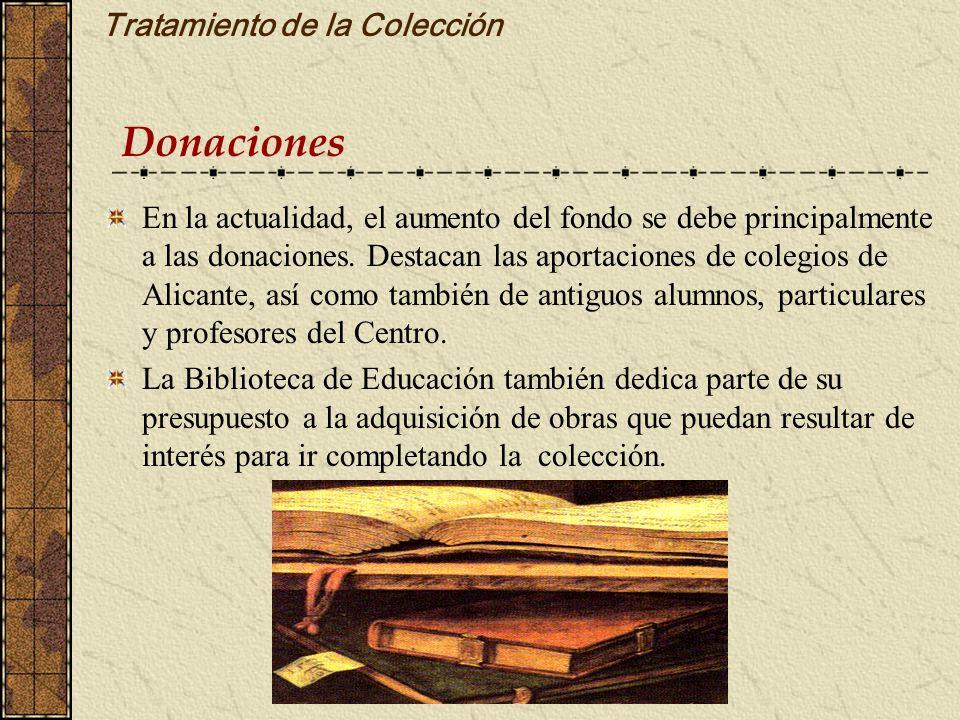 Tratamiento de la Colección