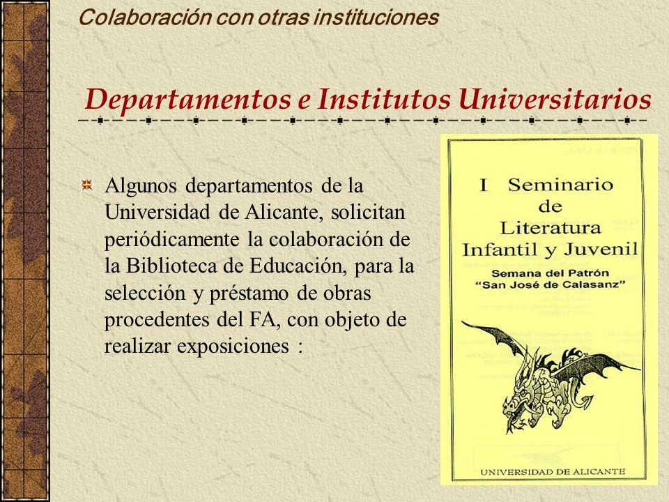 Colaboración con otras instituciones