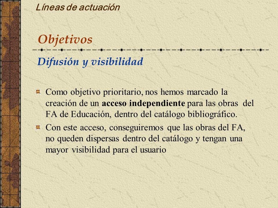 Objetivos Líneas de actuación Difusión y visibilidad