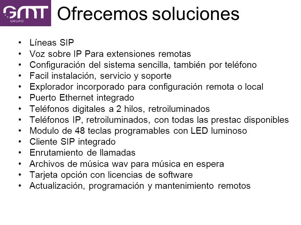 Ofrecemos soluciones Líneas SIP Voz sobre IP Para extensiones remotas
