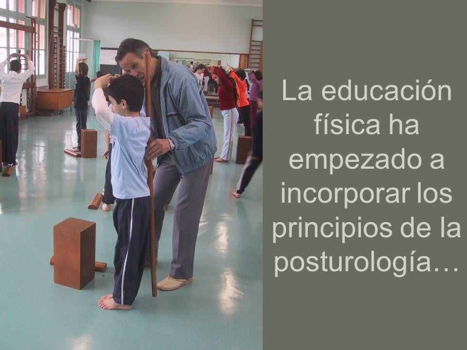La educación física ha empezado a incorporar los principios de la posturología…