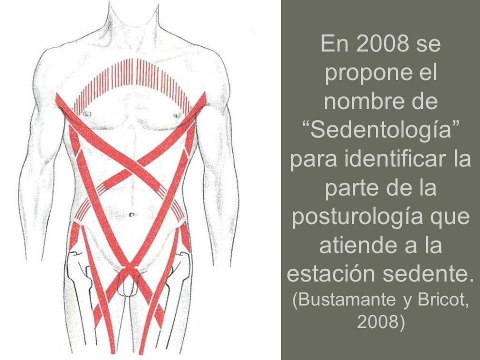 En 2008 se propone el nombre de Sedentología para identificar la parte de la posturología que atiende a la estación sedente.