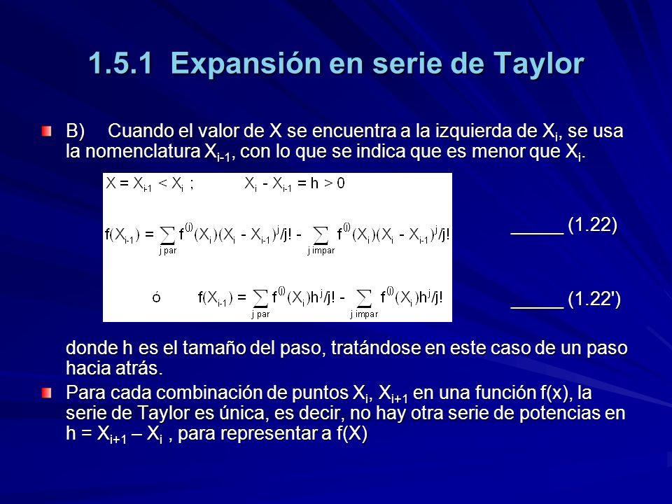 1.5.1 Expansión en serie de Taylor
