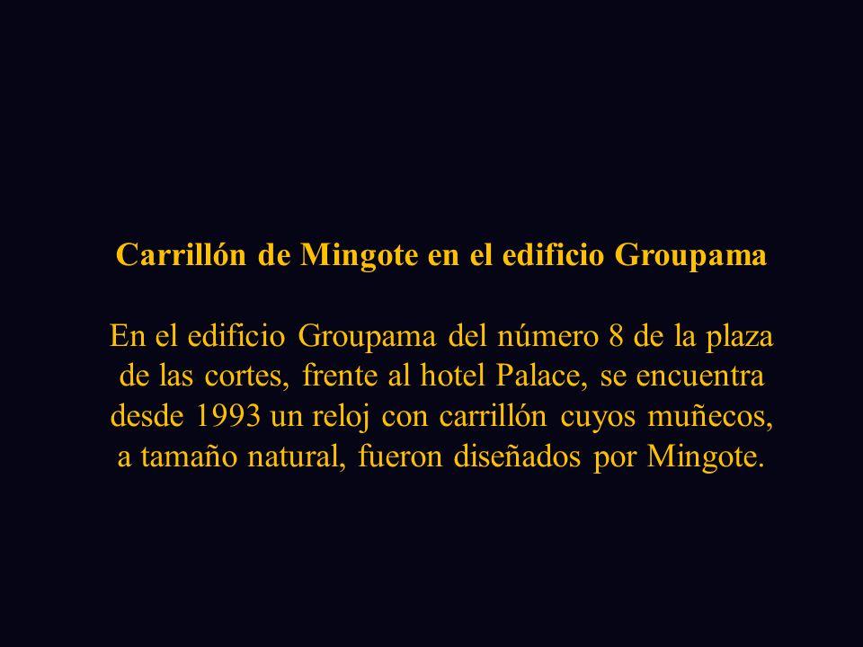 Carrillón de Mingote en el edificio Groupama