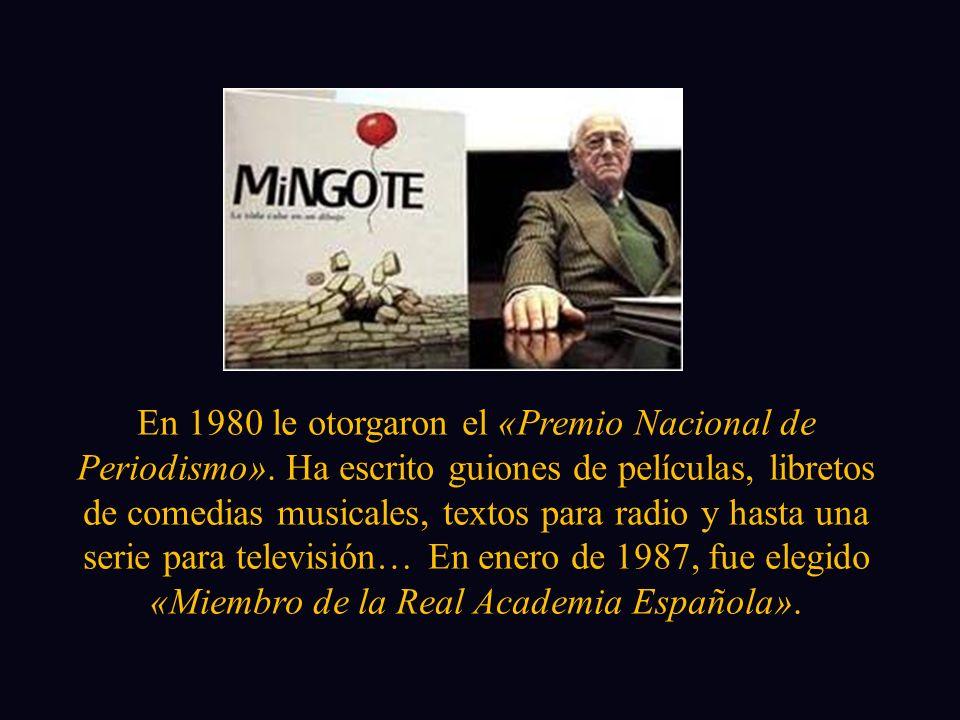 En 1980 le otorgaron el «Premio Nacional de Periodismo»