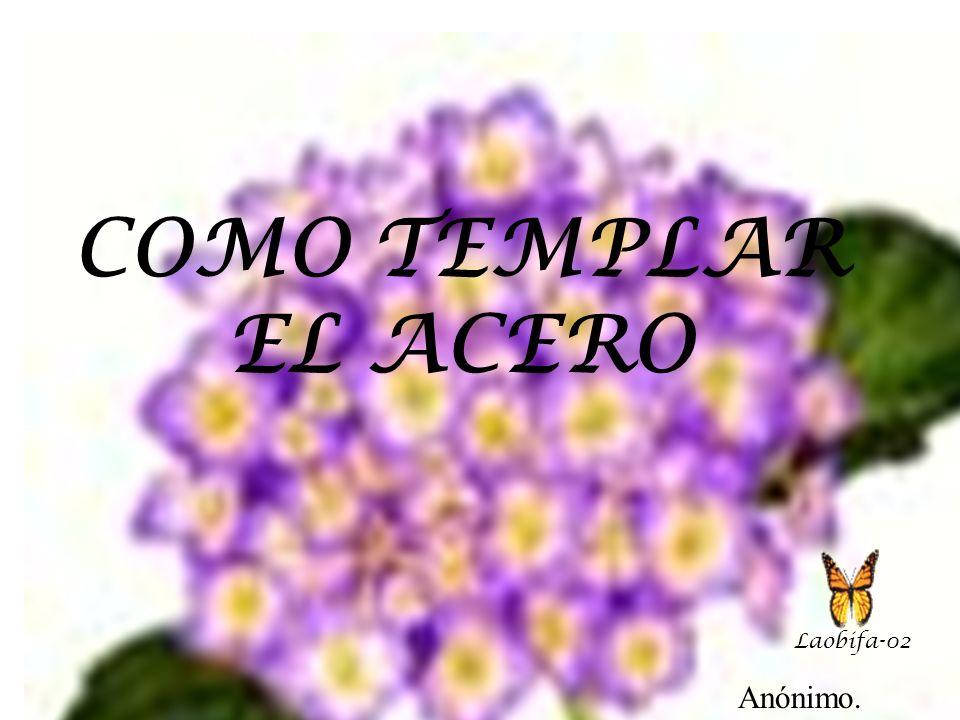 COMO TEMPLAR EL ACERO Laobifa-02 Anónimo.