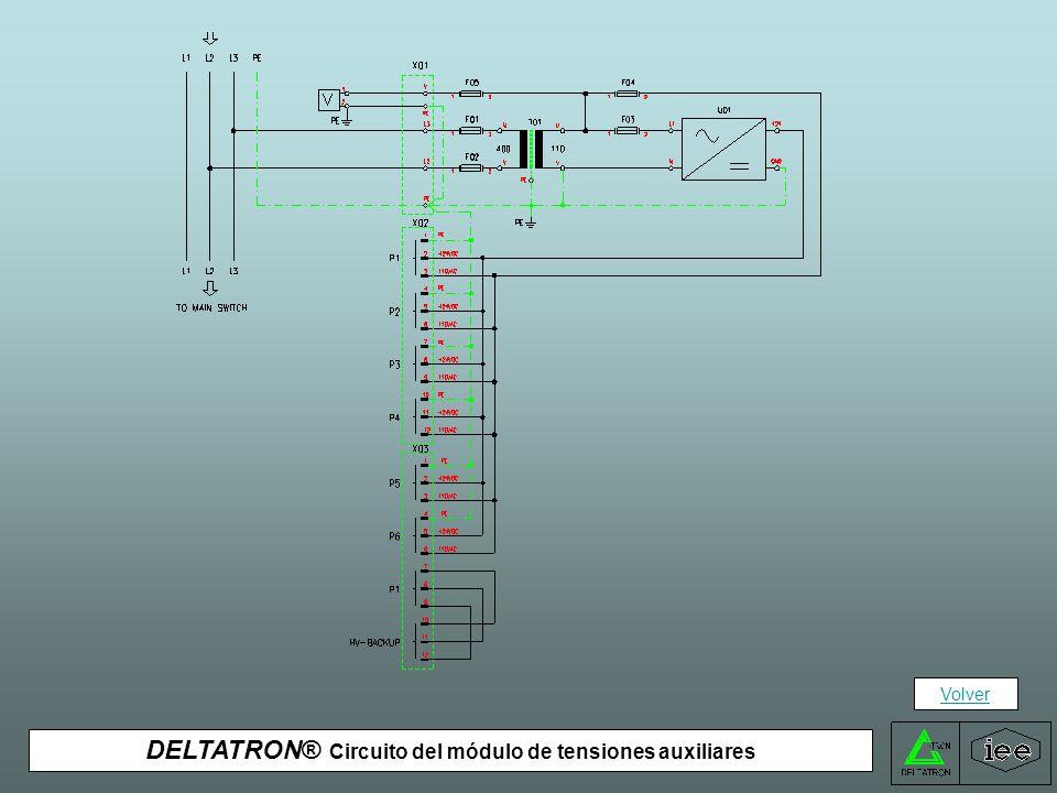 DELTATRON® Circuito del módulo de tensiones auxiliares