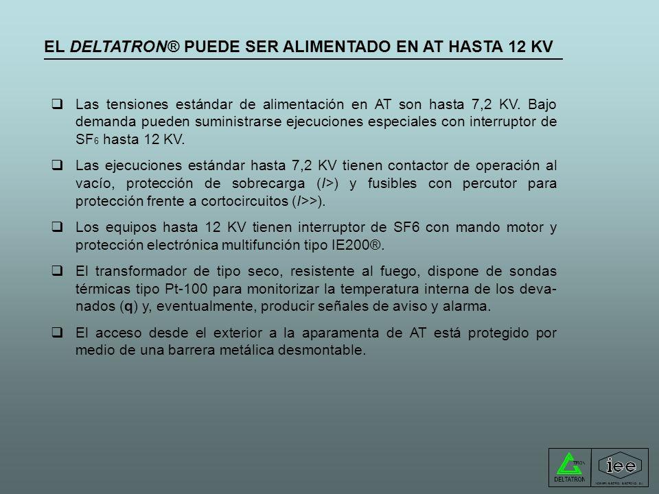EL DELTATRON® PUEDE SER ALIMENTADO EN AT HASTA 12 KV