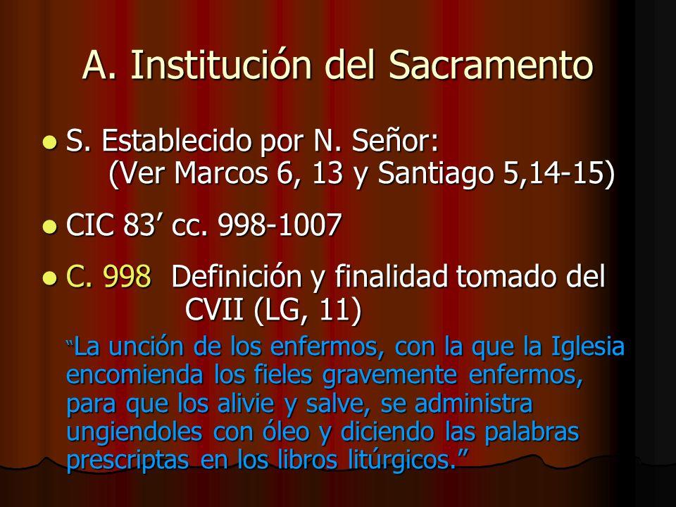 A. Institución del Sacramento