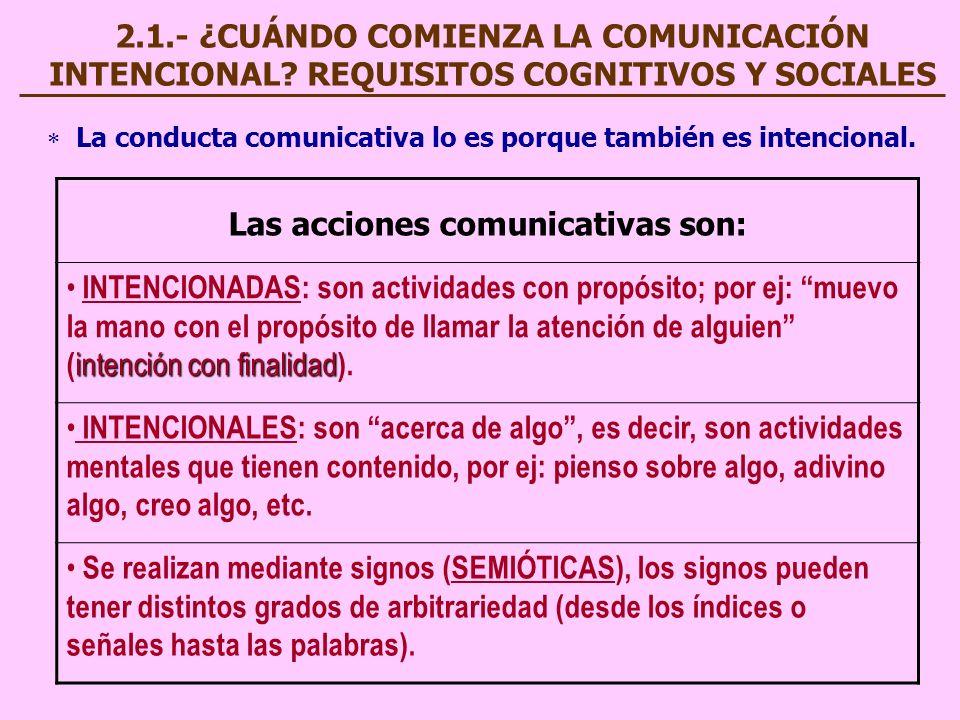 Las acciones comunicativas son: