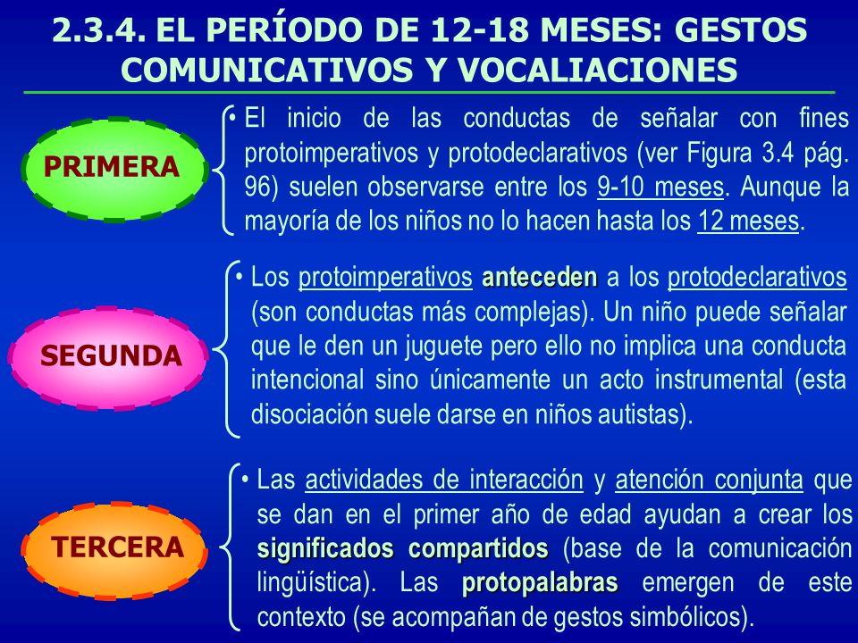 2.3.4. EL PERÍODO DE 12-18 MESES: GESTOS COMUNICATIVOS Y VOCALIACIONES