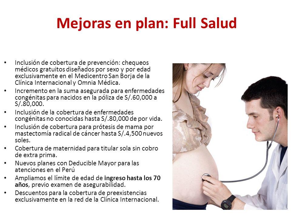 Mejoras en plan: Full Salud