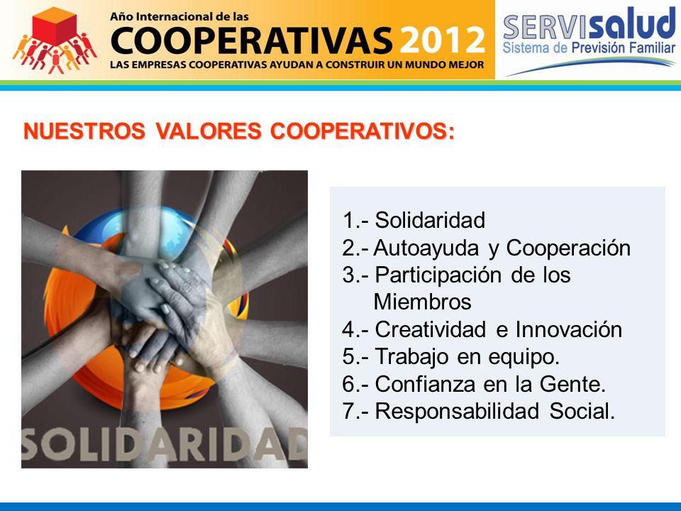 NUESTROS VALORES COOPERATIVOS: