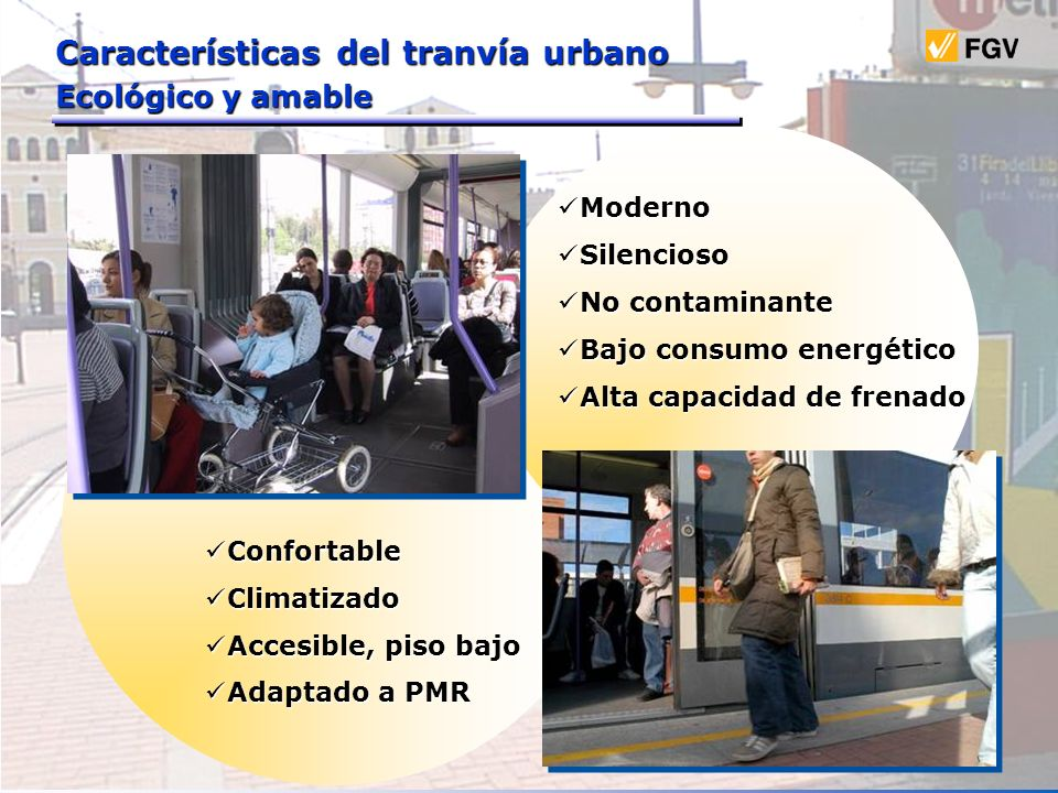 Características del tranvía urbano