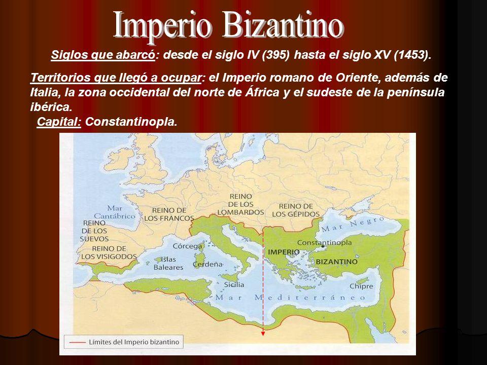 Siglos que abarcó: desde el siglo IV (395) hasta el siglo XV (1453).
