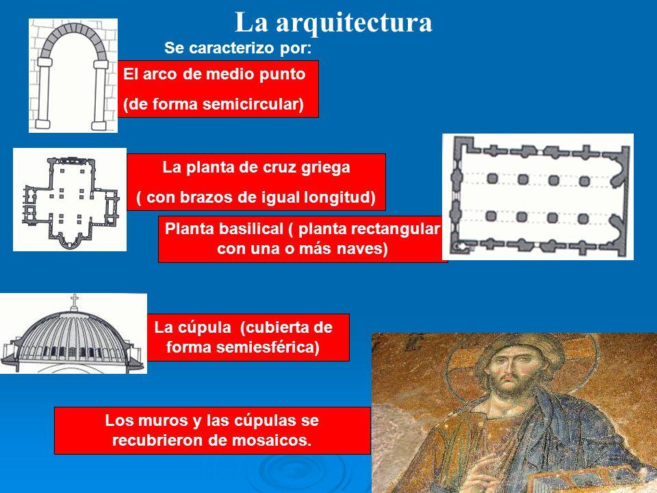 La arquitectura Se caracterizo por: El arco de medio punto