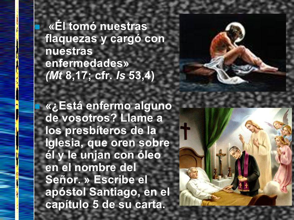 «Él tomó nuestras flaquezas y cargó con nuestras enfermedades» (Mt 8,17; cfr. Is 53,4)