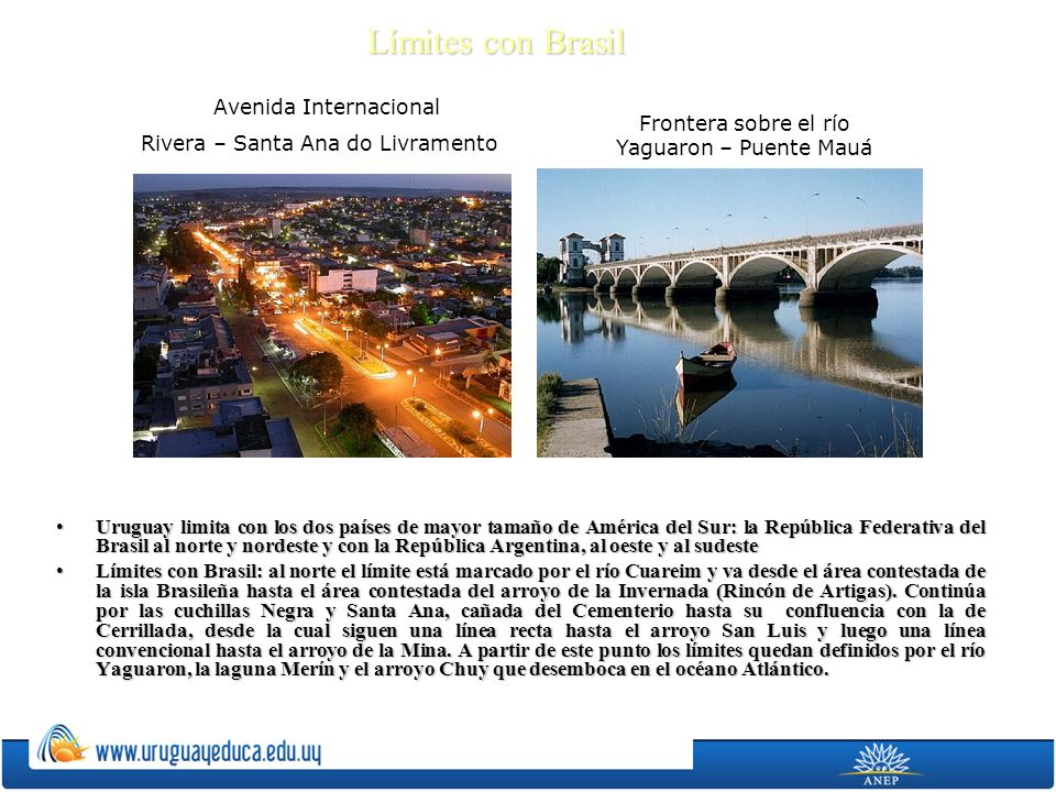 Límites con Brasil Avenida Internacional
