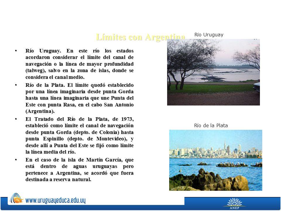 Límites con Argentina Río Uruguay.