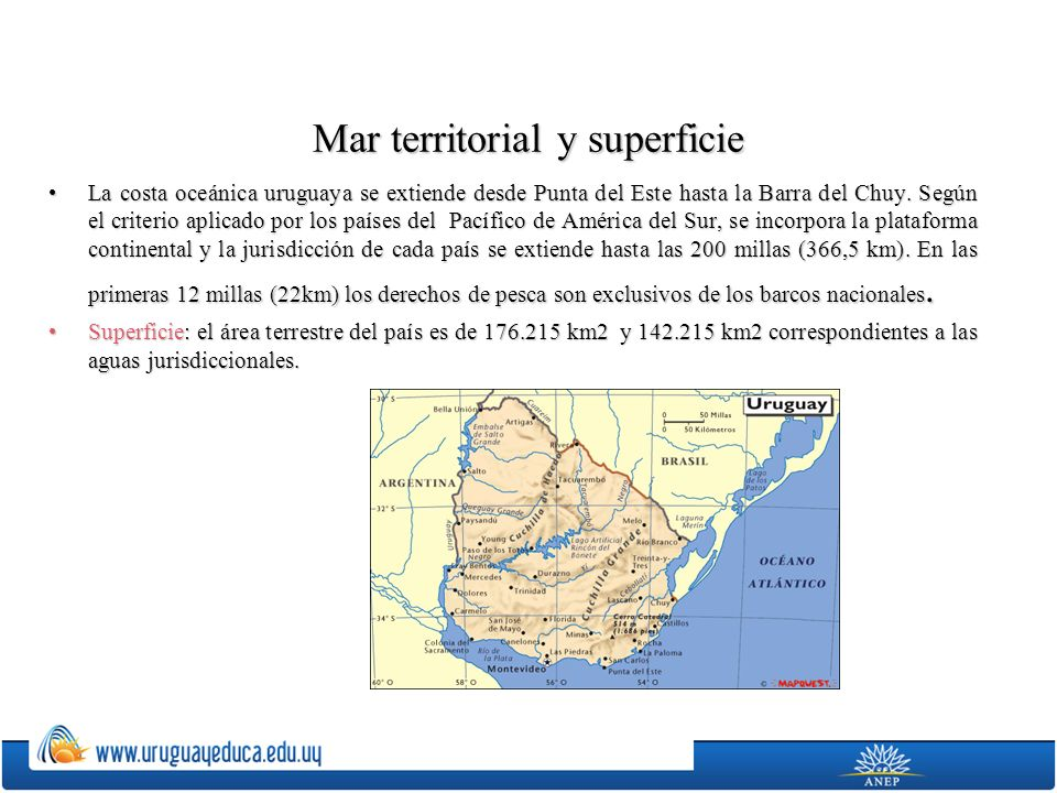 Mar territorial y superficie
