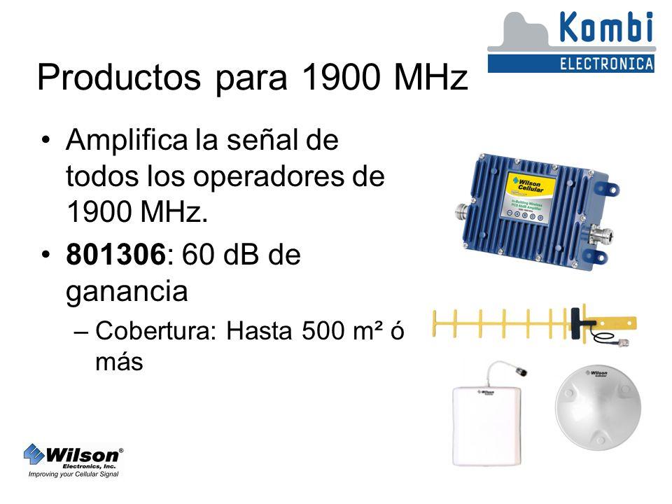 Productos para 1900 MHz Amplifica la señal de todos los operadores de 1900 MHz. 801306: 60 dB de ganancia.