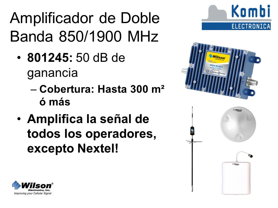 Amplificador de Doble Banda 850/1900 MHz