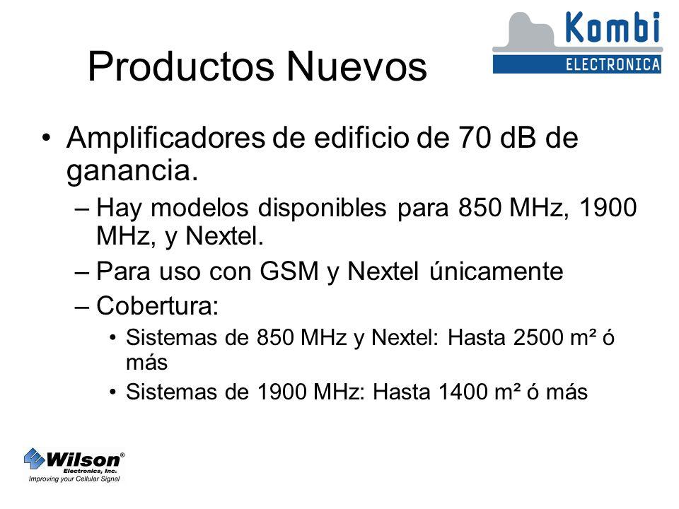 Productos Nuevos Amplificadores de edificio de 70 dB de ganancia.