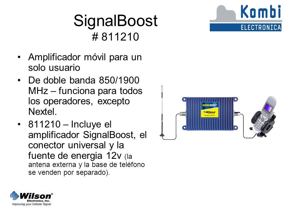 SignalBoost # 811210 Amplificador móvil para un solo usuario