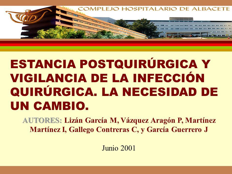 ESTANCIA POSTQUIRÚRGICA Y VIGILANCIA DE LA INFECCIÓN