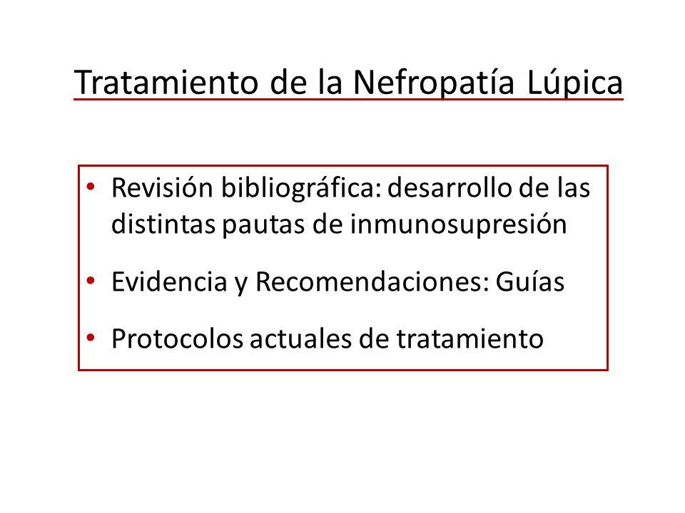 Tratamiento de la Nefropatía Lúpica