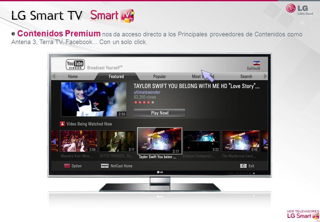 Contenidos Premium nos da acceso directo a los Principales proveedores de Contenidos como Antena 3, Terra TV, Facebook...