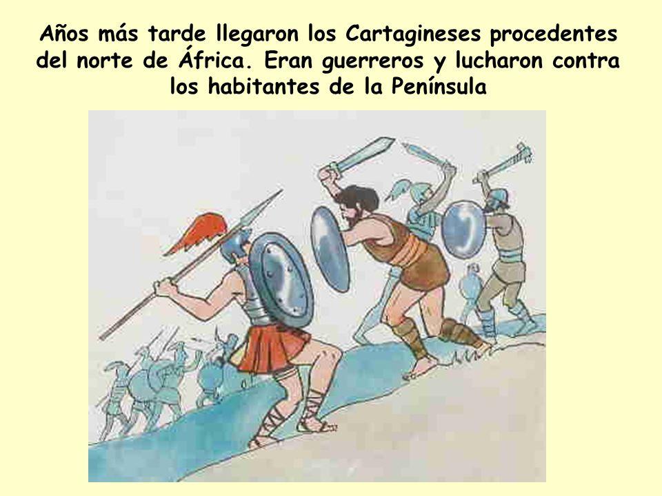 Años más tarde llegaron los Cartagineses procedentes del norte de África.