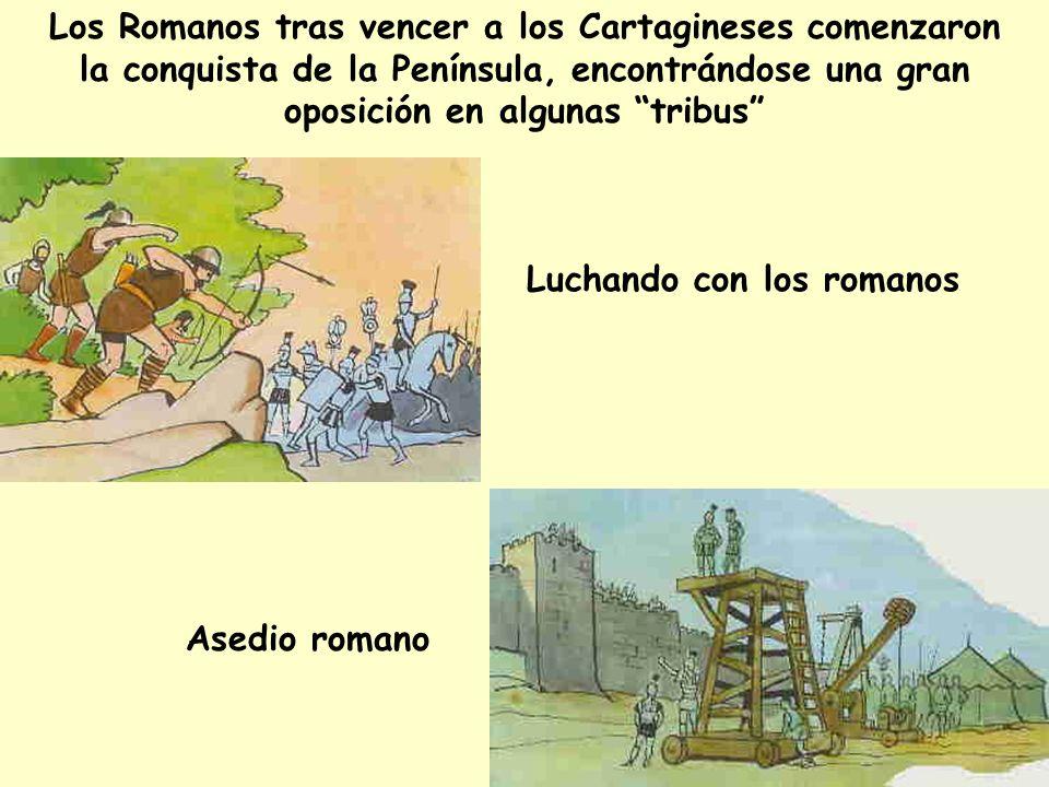 Los Romanos tras vencer a los Cartagineses comenzaron la conquista de la Península, encontrándose una gran oposición en algunas tribus