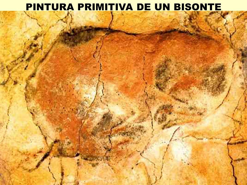PINTURA PRIMITIVA DE UN BISONTE