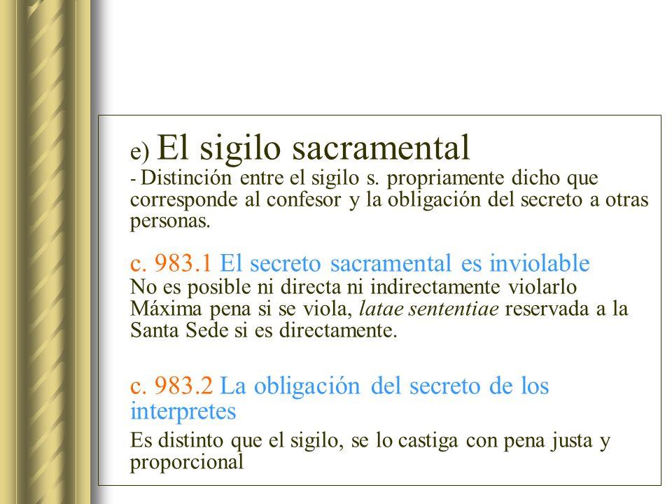 c. 983.2 La obligación del secreto de los interpretes