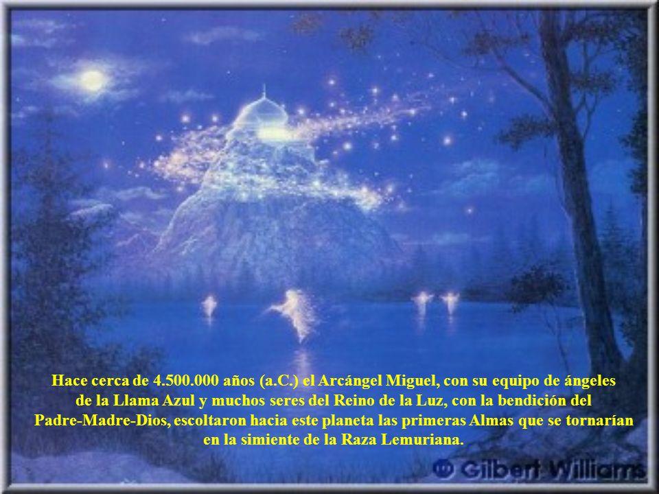 Hace cerca de 4.500.000 años (a.C.) el Arcángel Miguel, con su equipo de ángeles