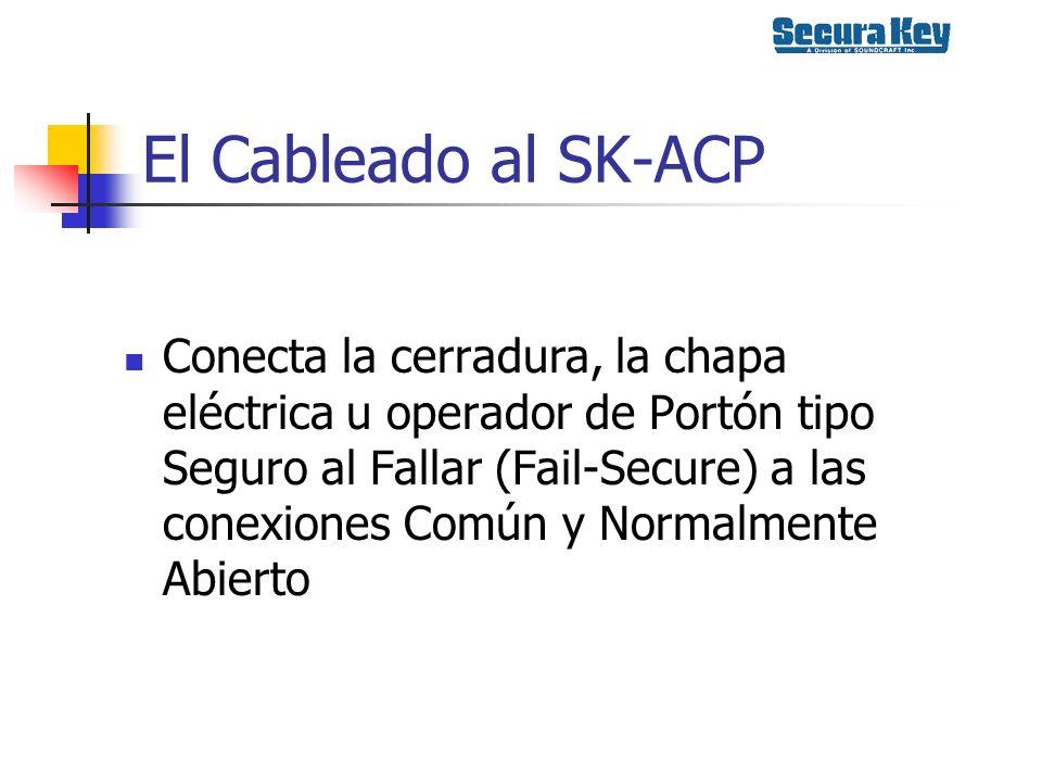 El Cableado al SK-ACP