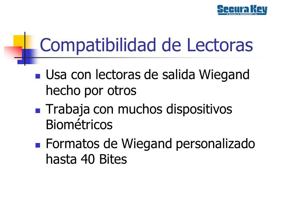Compatibilidad de Lectoras