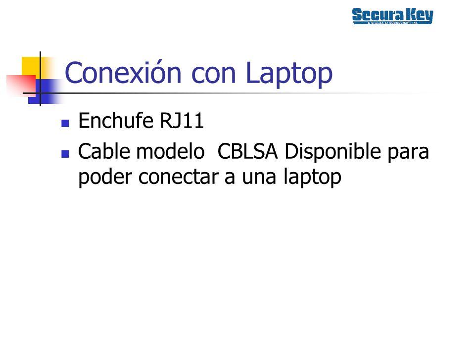 Conexión con Laptop Enchufe RJ11