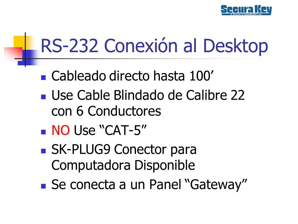 RS-232 Conexión al Desktop