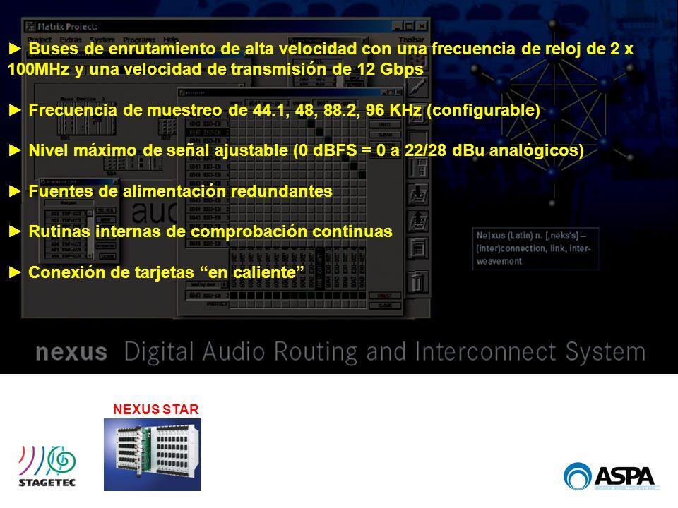 ► Frecuencia de muestreo de 44.1, 48, 88.2, 96 KHz (configurable)