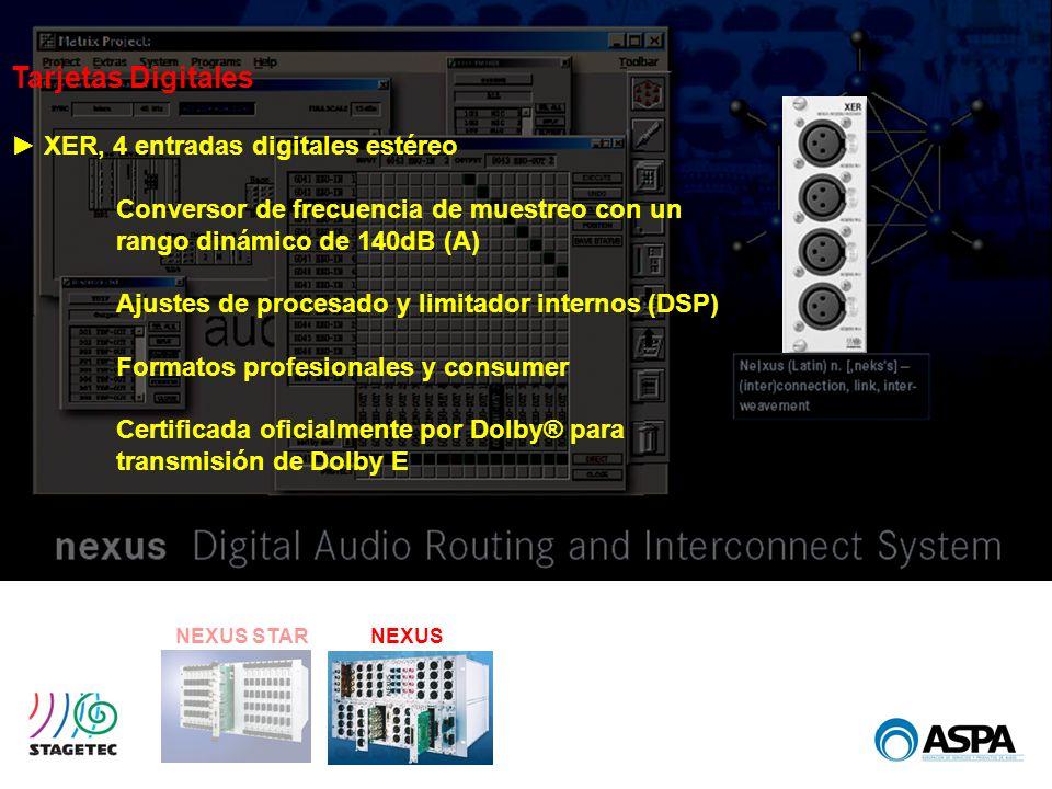 Tarjetas Digitales ► XER, 4 entradas digitales estéreo