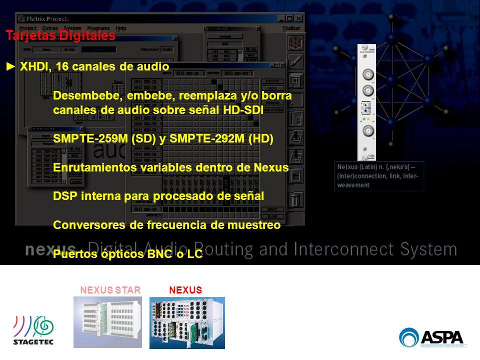 Tarjetas Digitales ► XHDI, 16 canales de audio