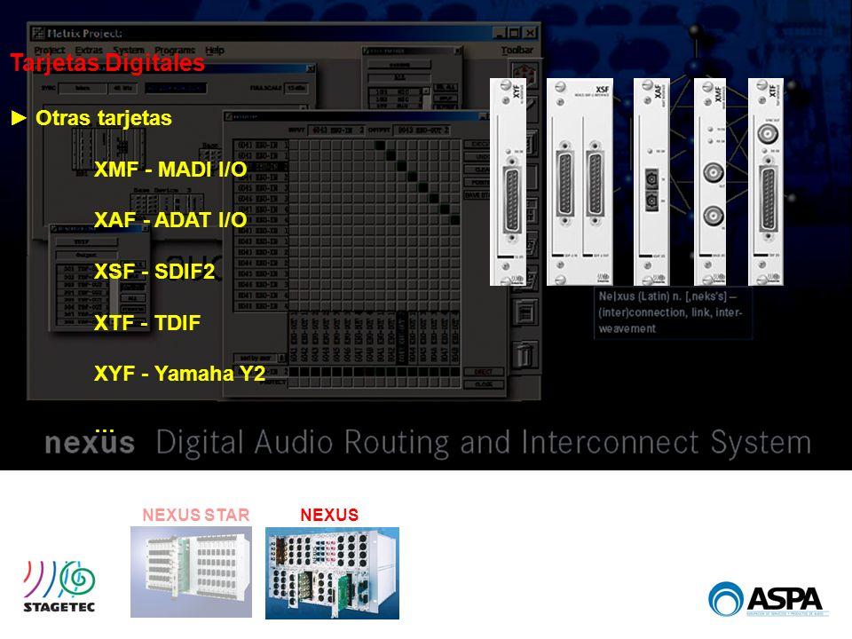Tarjetas Digitales ► Otras tarjetas XMF - MADI I/O XAF - ADAT I/O
