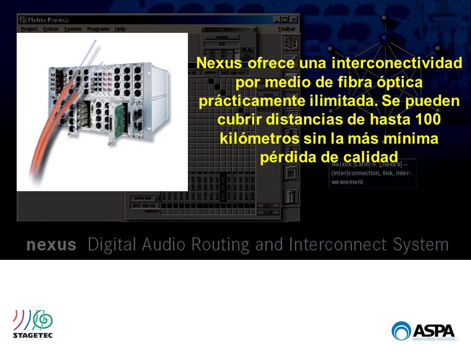 Nexus ofrece una interconectividad por medio de fibra óptica prácticamente ilimitada.