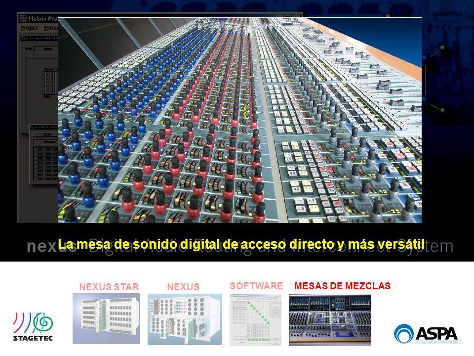 La mesa de sonido digital de acceso directo y más versátil