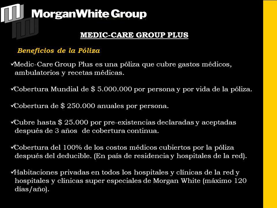 MEDIC-CARE GROUP PLUS Beneficios de la Póliza