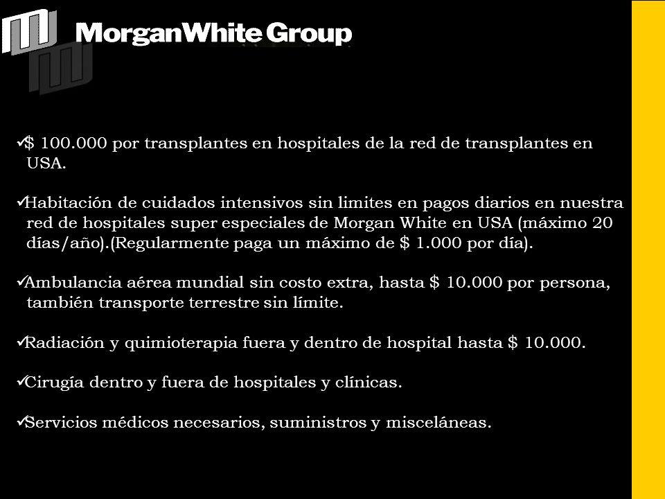 $ 100.000 por transplantes en hospitales de la red de transplantes en