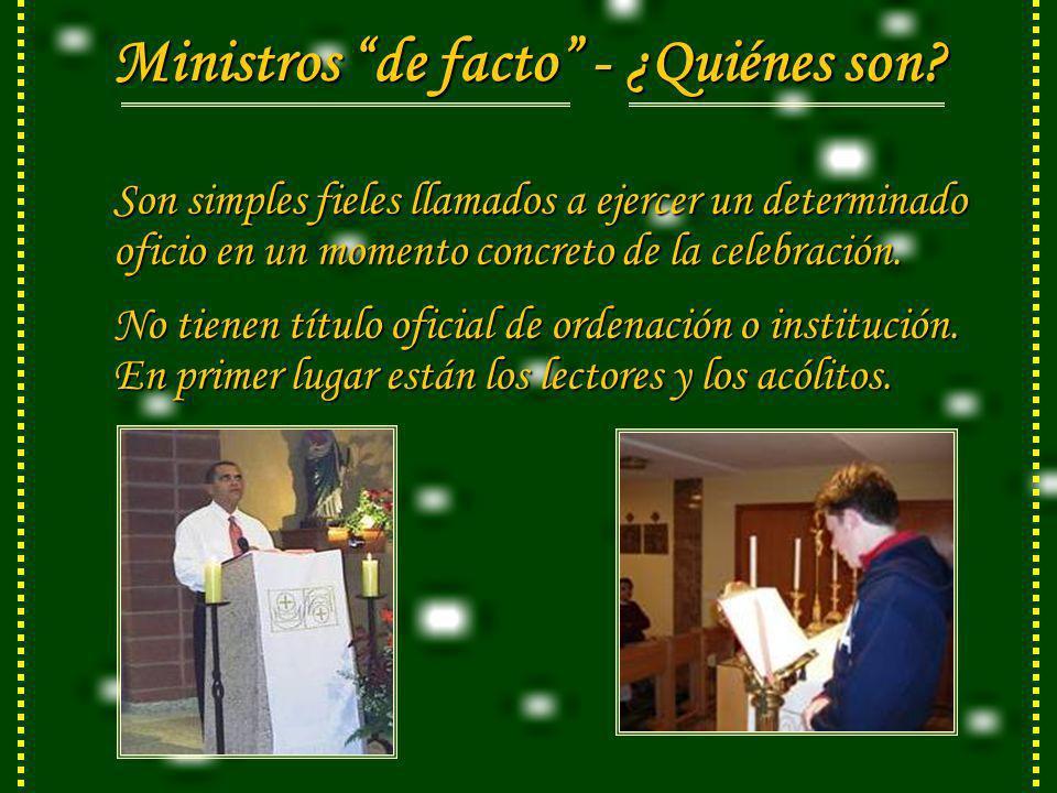 Ministros de facto - ¿Quiénes son